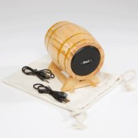 Diesel Whiskey Bluetooth Barrel Speaker  Woodgrain