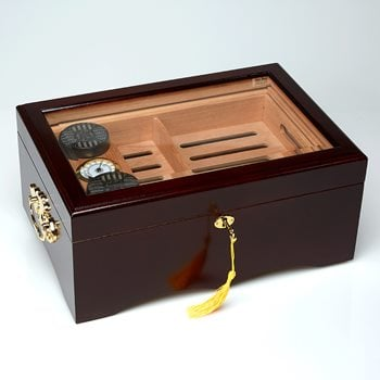 Search Images - El Rey Glass Top Humidor  150 Cigar Capacity