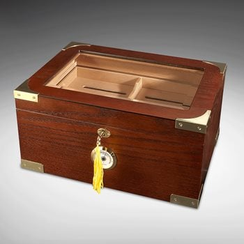 Search Images - Milano Glass-Top Display Humidor  100-Cigar Capacity