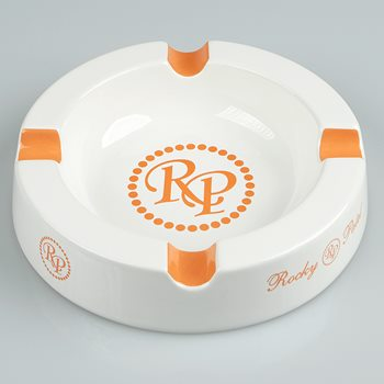 Search Images - Rocky Patel 5-Star Ashtray  4-Finger; White + Orange