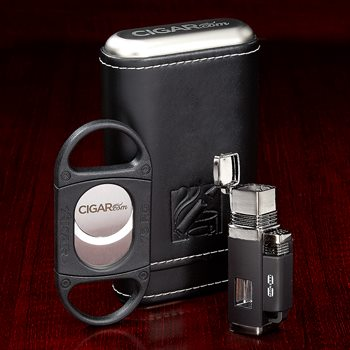 Search Images - CIGAR.com Luxury Accessory Set  Cutter + Lighter + Case