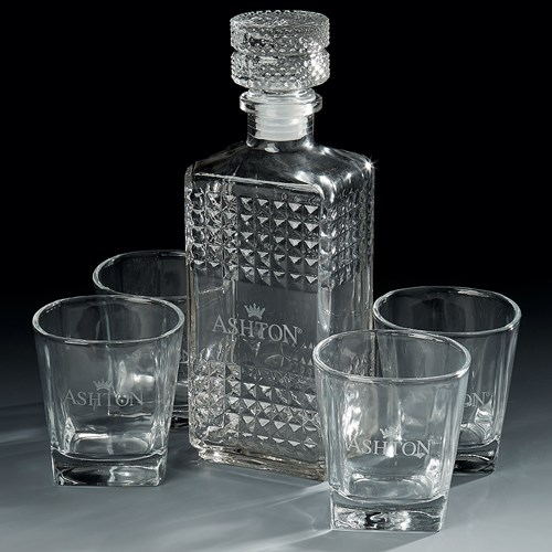 Ashton Rocks and Decanter Set Miscellaneous