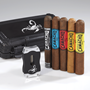 Camacho Travel Combo  5-Cigar Sampler + Travel Case + Cutter